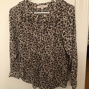 Loft leopard long-sleeved shirt